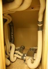 地熱住宅の配管