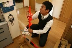 地熱センサー掘削機