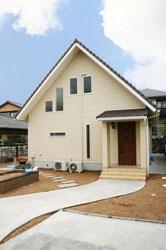 平屋建風地熱住宅施工例